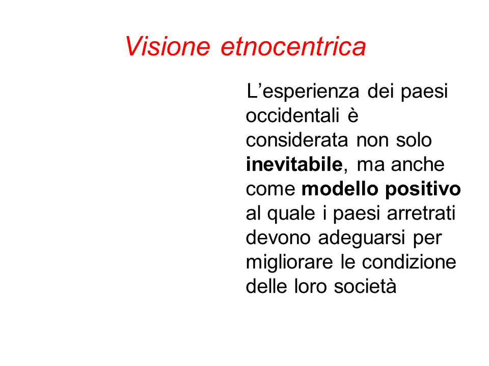 Visione etnocentrica