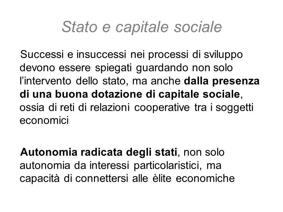 Stato e capitale sociale