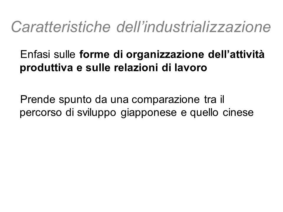 Caratteristiche dell'industrializzazione
