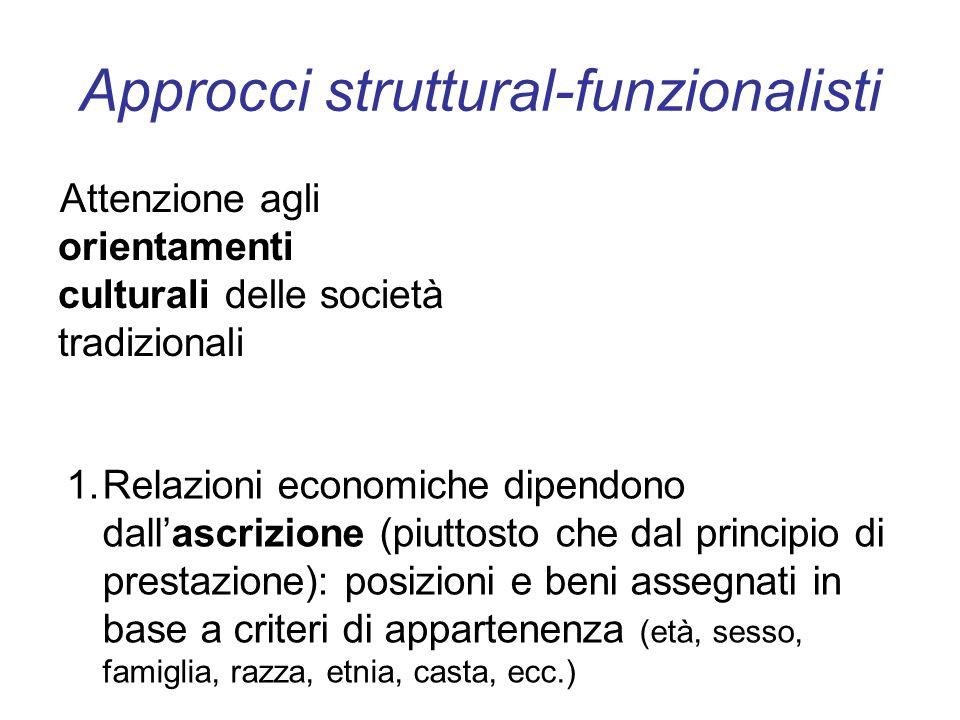 Approcci struttural-funzionalisti