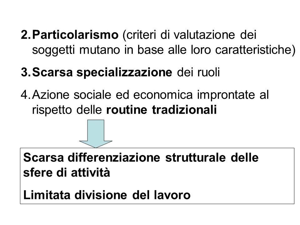 Particolarismo (criteri di valutazione dei soggetti mutano in base alle loro caratteristiche)