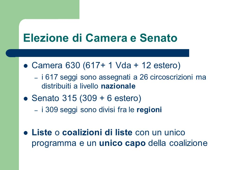 Forma di governo indica i rapporti che intercorrono tra for Camera e senato differenze