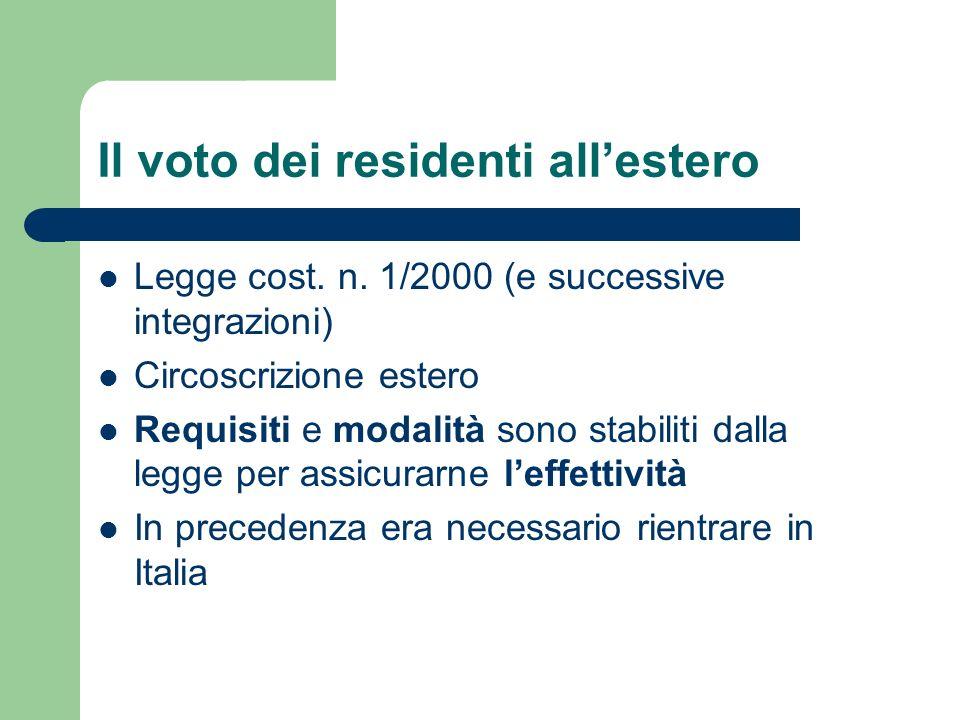 Il voto dei residenti all'estero