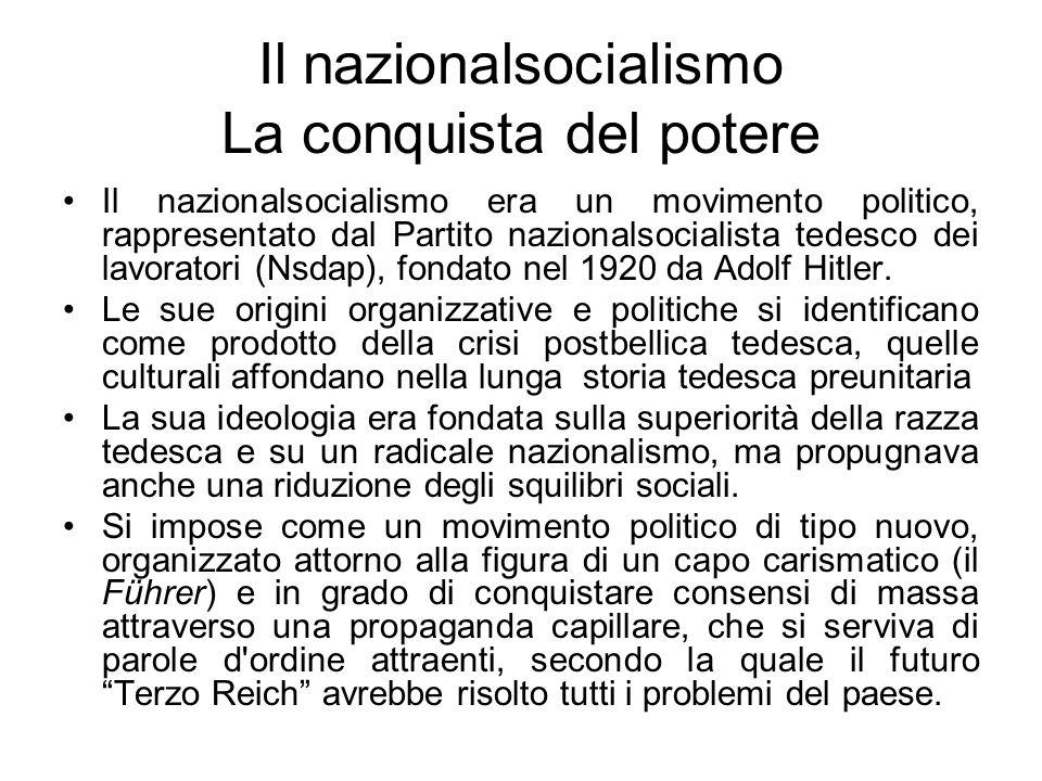 Il nazionalsocialismo La conquista del potere