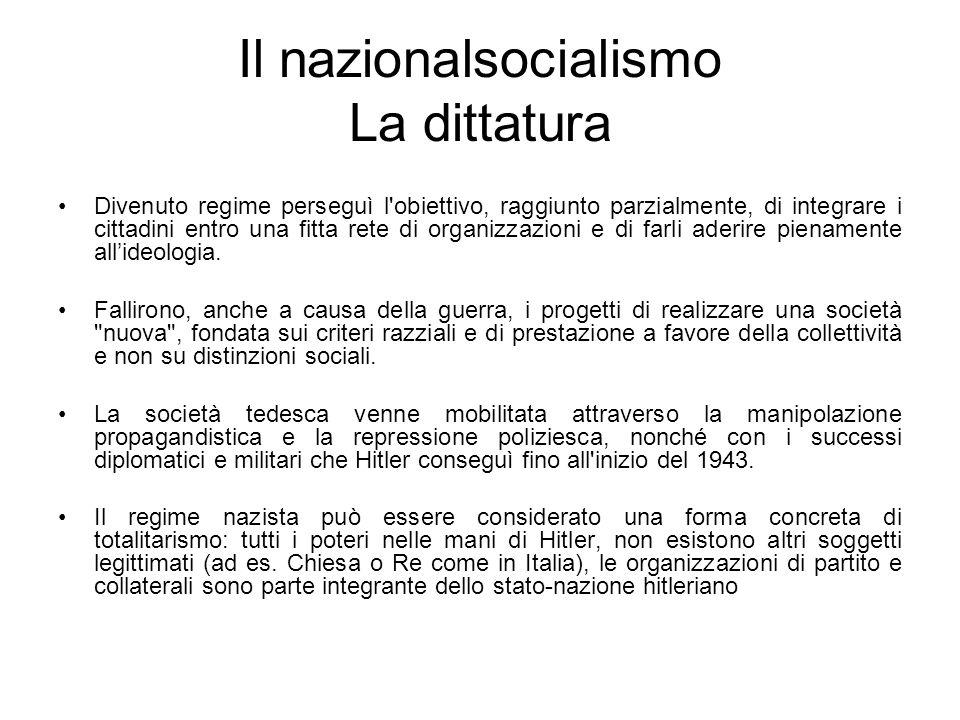 Il nazionalsocialismo La dittatura