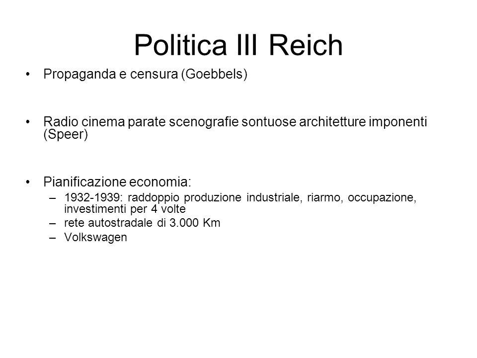 Politica III Reich Propaganda e censura (Goebbels)