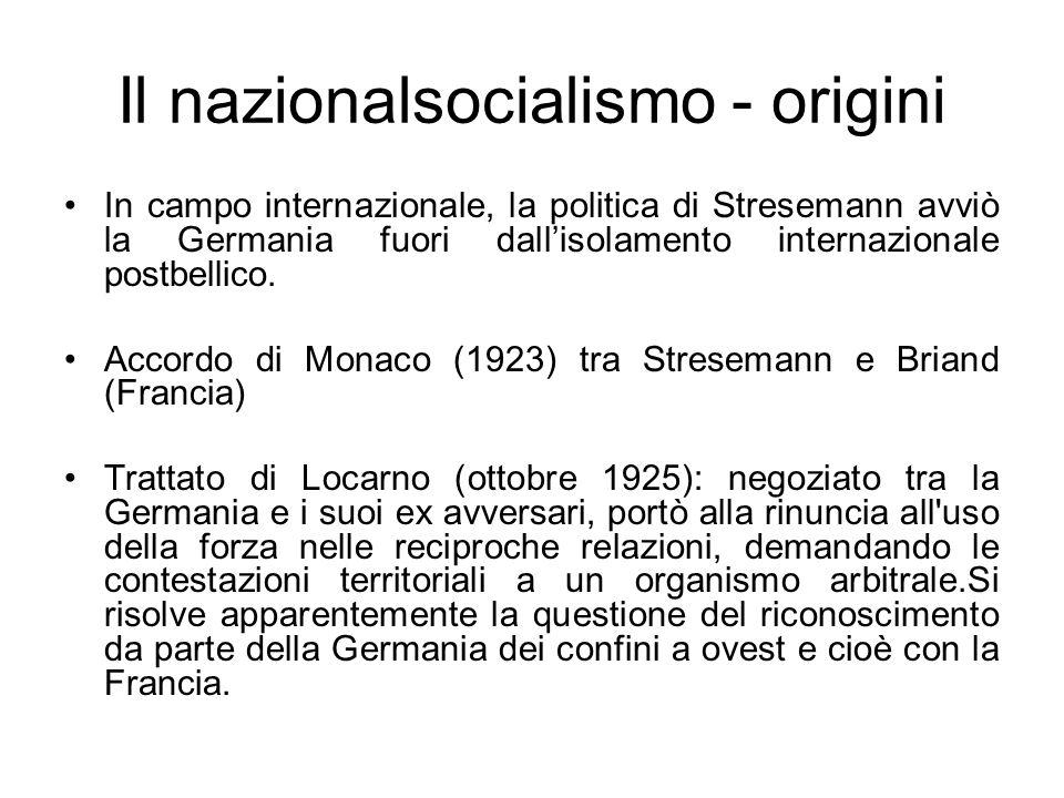Il nazionalsocialismo - origini