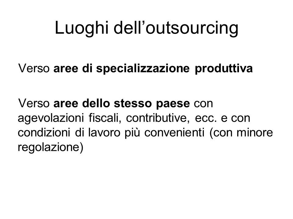 Luoghi dell'outsourcing