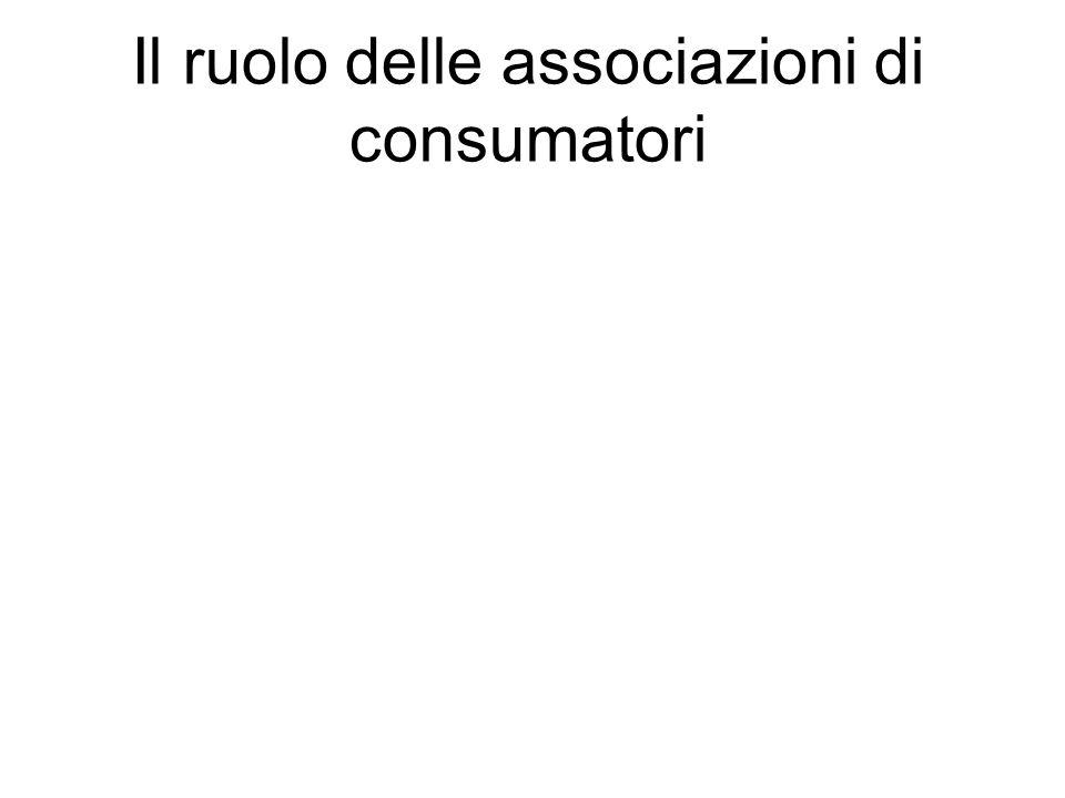 Il ruolo delle associazioni di consumatori