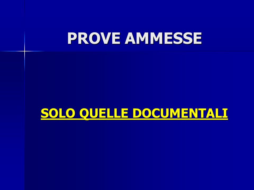SOLO QUELLE DOCUMENTALI