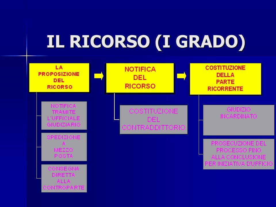 IL RICORSO (I GRADO)