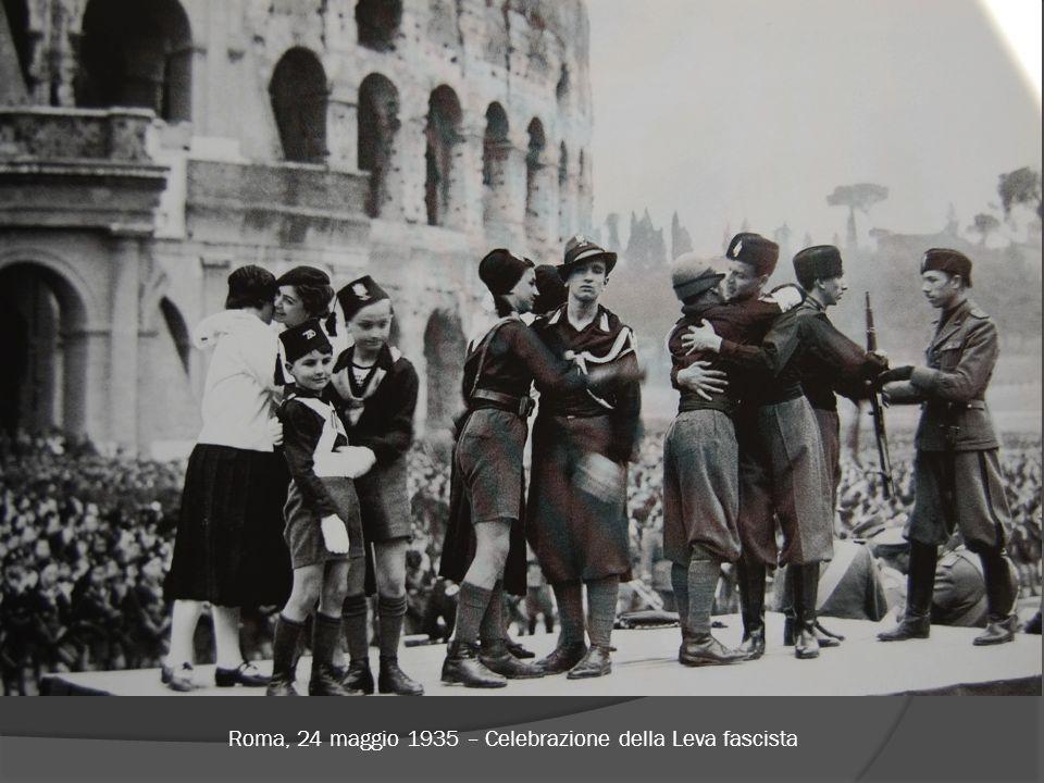 Roma, 24 maggio 1935 – Celebrazione della Leva fascista