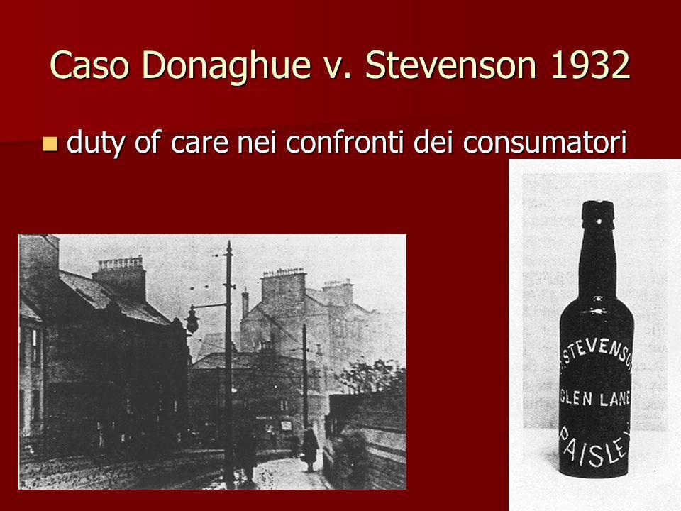 Caso Donaghue v. Stevenson 1932
