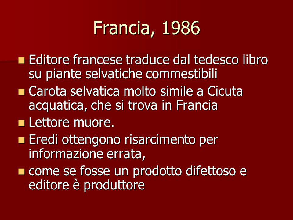 Francia, 1986 Editore francese traduce dal tedesco libro su piante selvatiche commestibili.