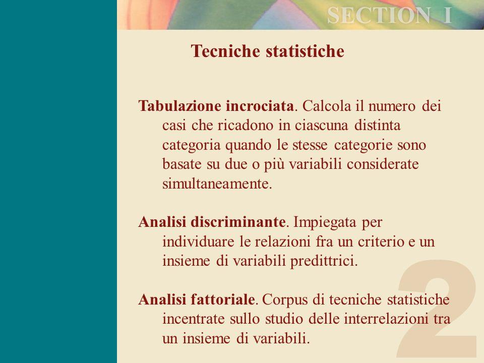 Tecniche statistiche