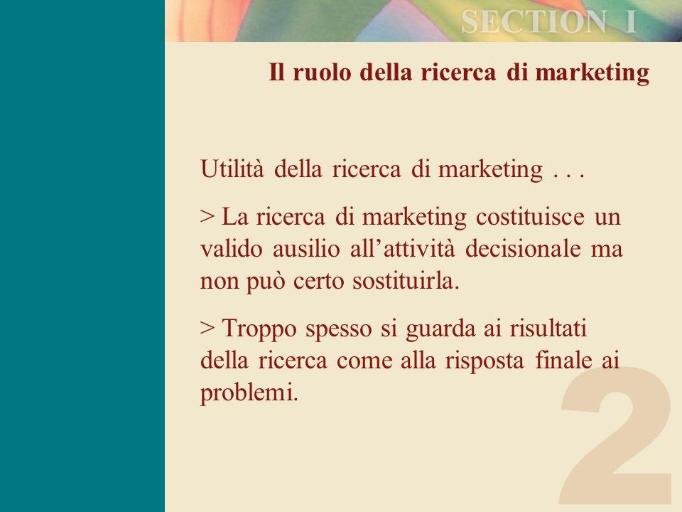 2 Il ruolo della ricerca di marketing