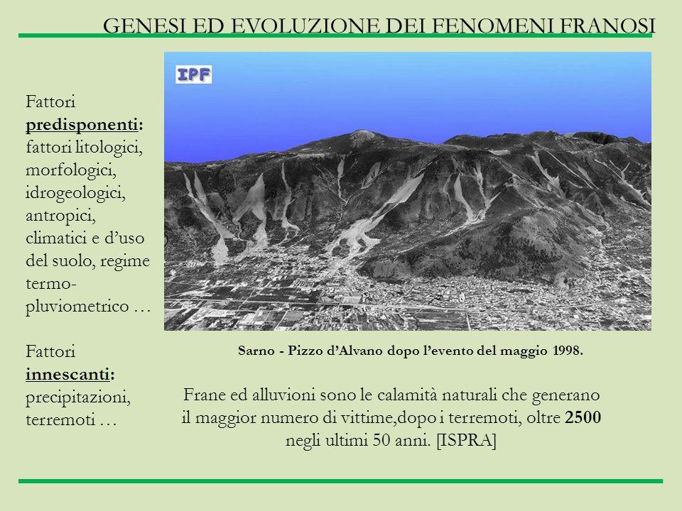Sarno - Pizzo d'Alvano dopo l'evento del maggio 1998.