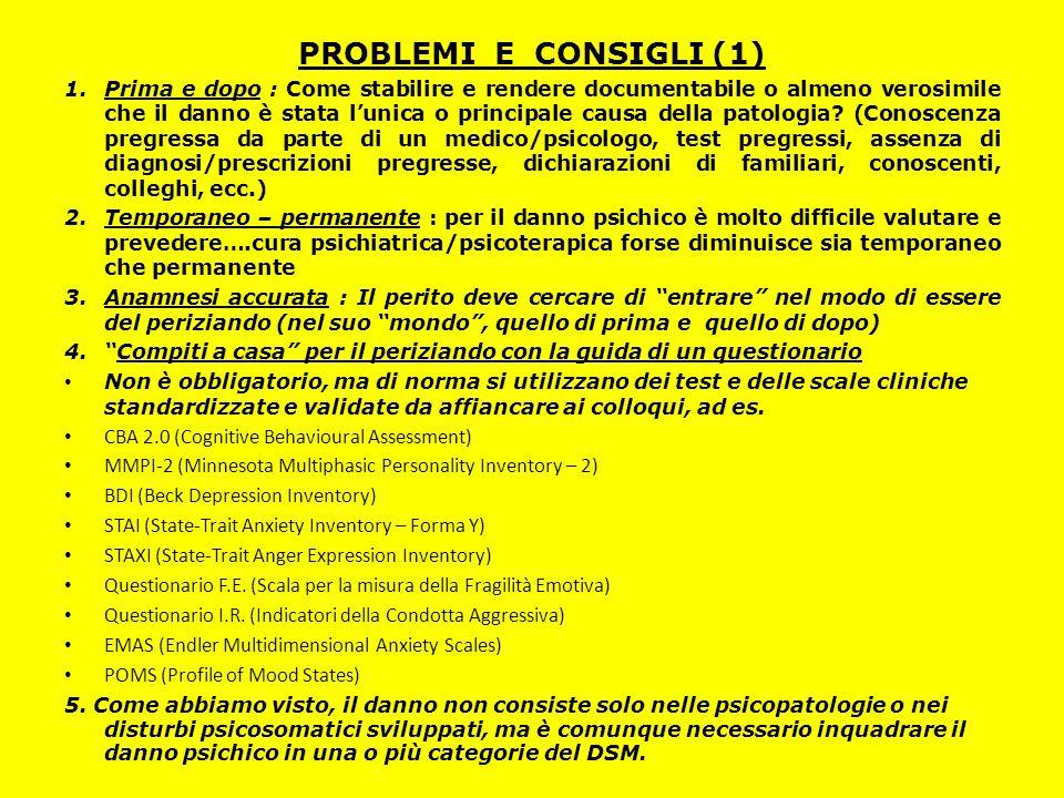 PROBLEMI E CONSIGLI (1)