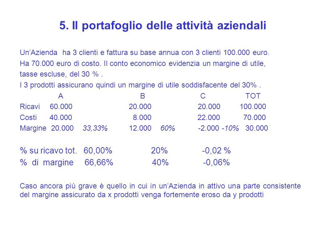 5. Il portafoglio delle attività aziendali