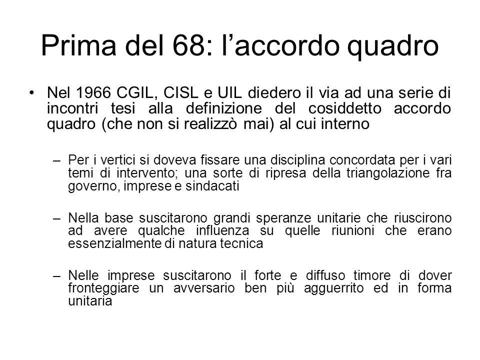 Prima del 68: l'accordo quadro