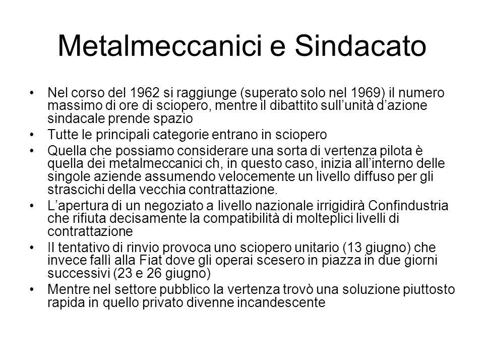 Metalmeccanici e Sindacato