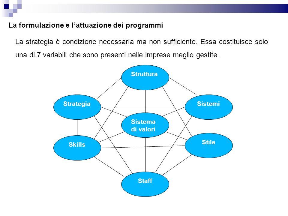 La formulazione e l'attuazione dei programmi