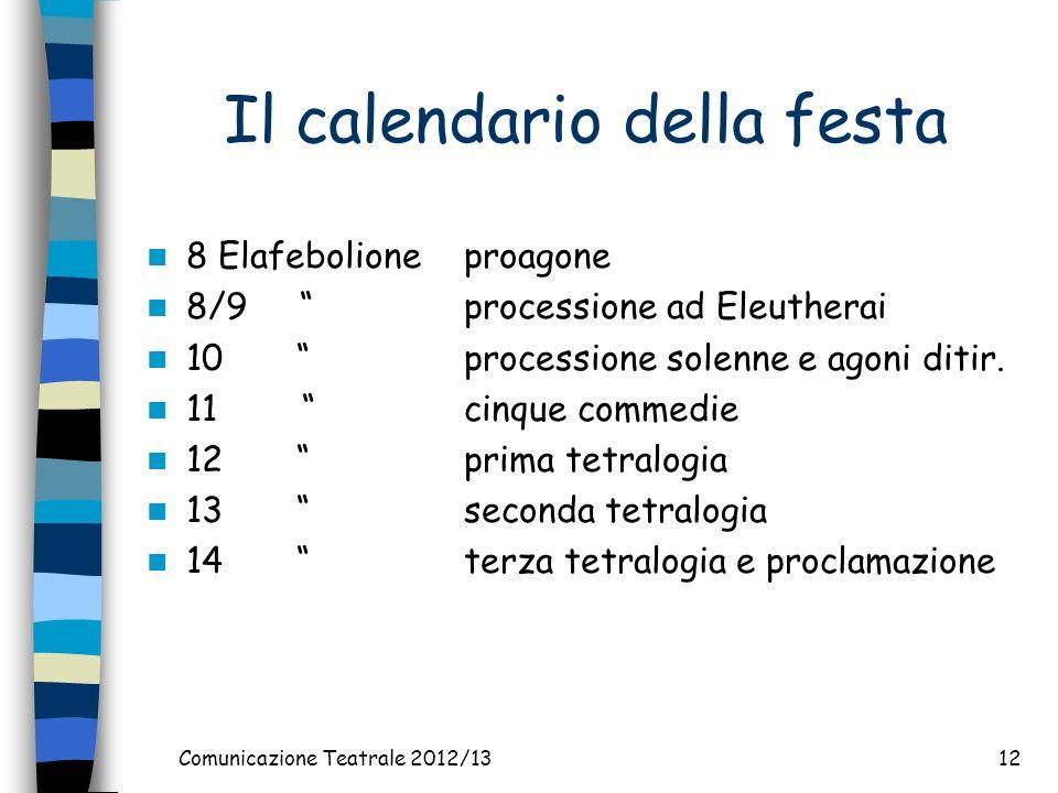 Il calendario della festa