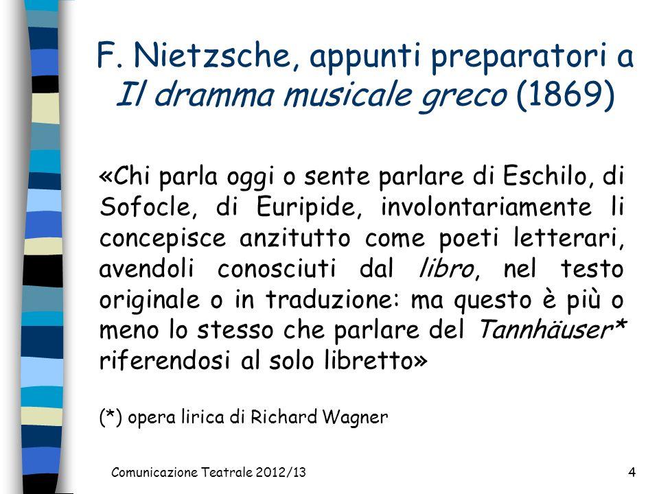 F. Nietzsche, appunti preparatori a Il dramma musicale greco (1869)