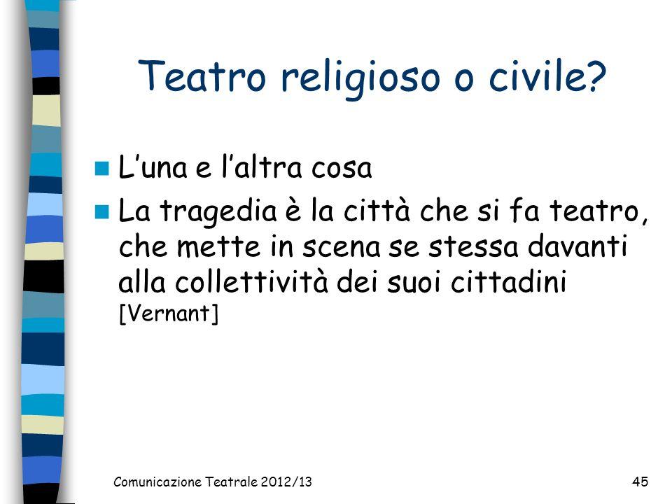 Teatro religioso o civile