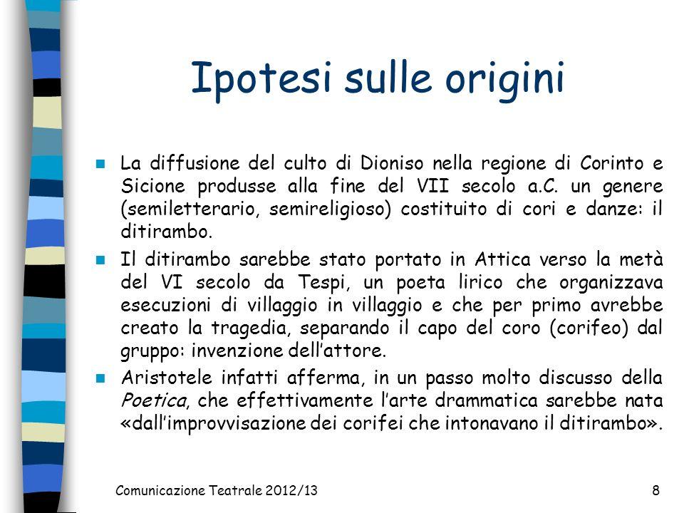 Comunicazione Teatrale 2012/13