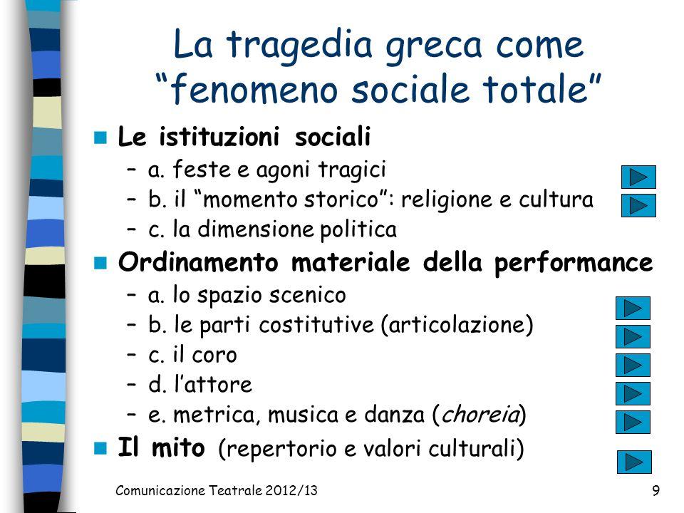 La tragedia greca come fenomeno sociale totale