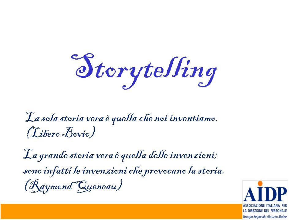Storytelling La sola storia vera è quella che noi inventiamo.