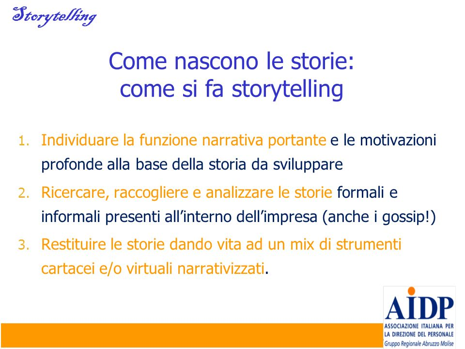 Come nascono le storie: come si fa storytelling