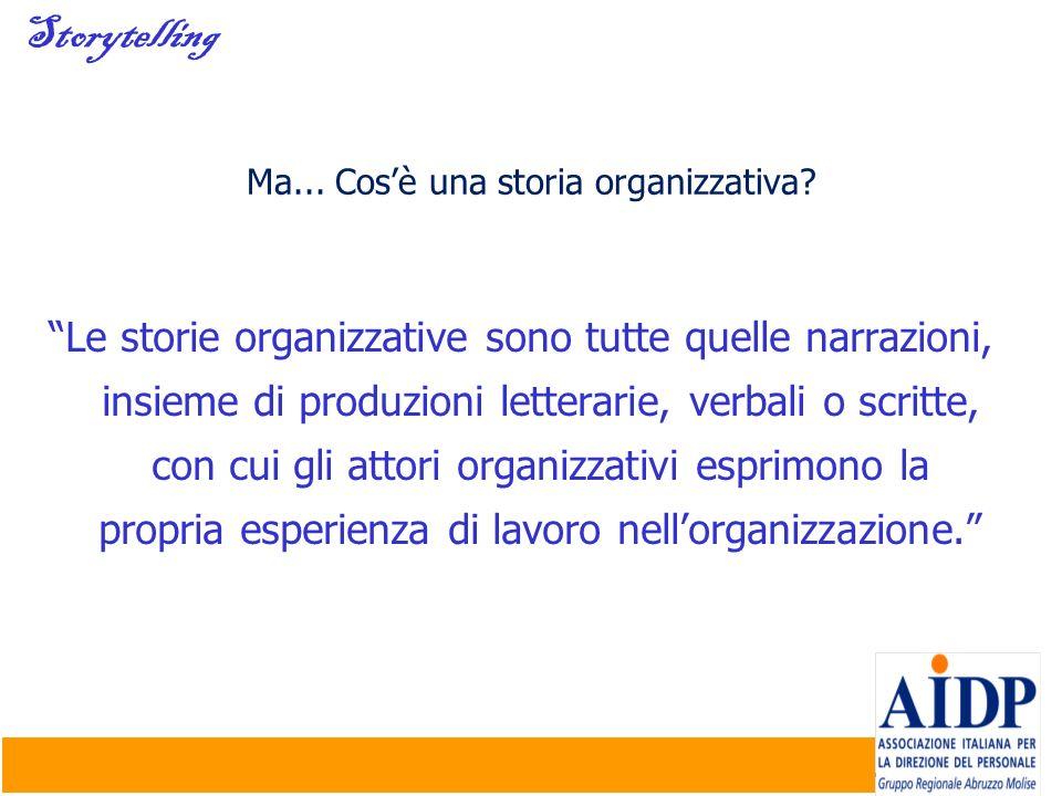 Ma... Cos'è una storia organizzativa