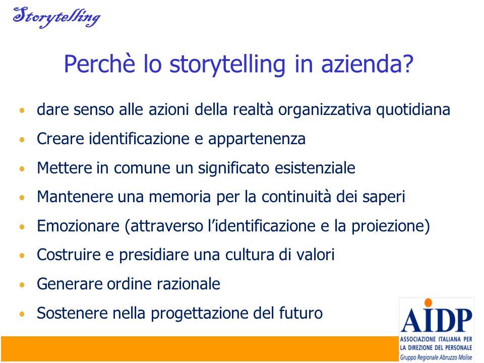 Perchè lo storytelling in azienda