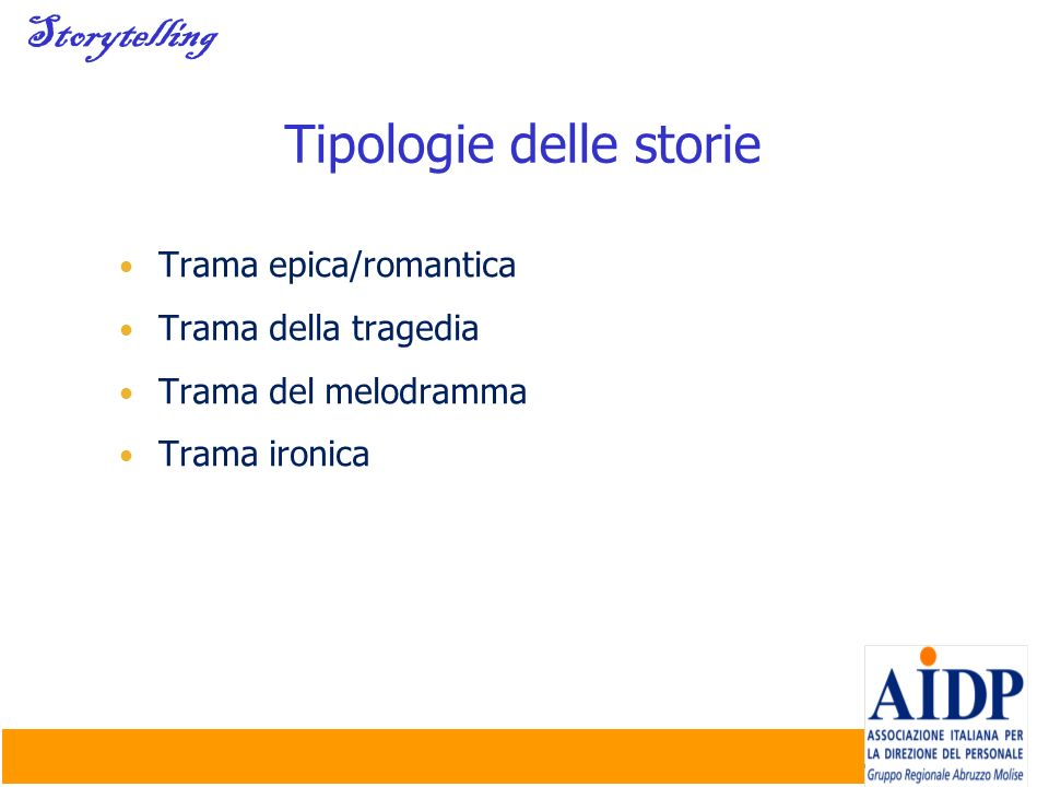 Tipologie delle storie