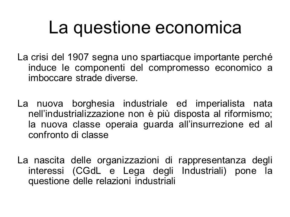 La questione economica