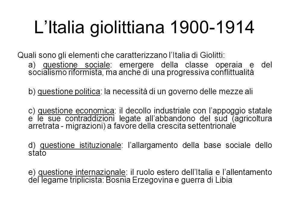 L'Italia giolittiana 1900-1914
