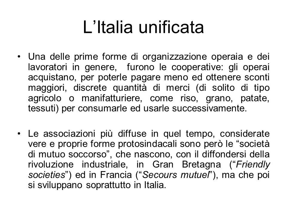 L'Italia unificata