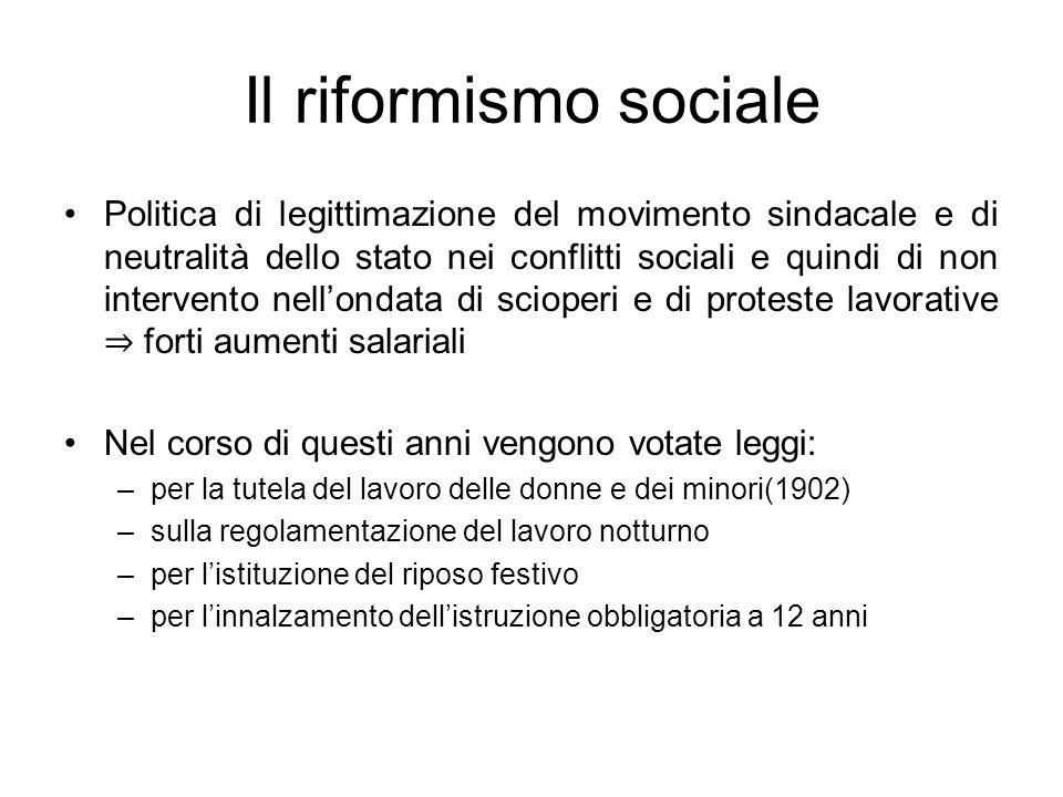 Il riformismo sociale