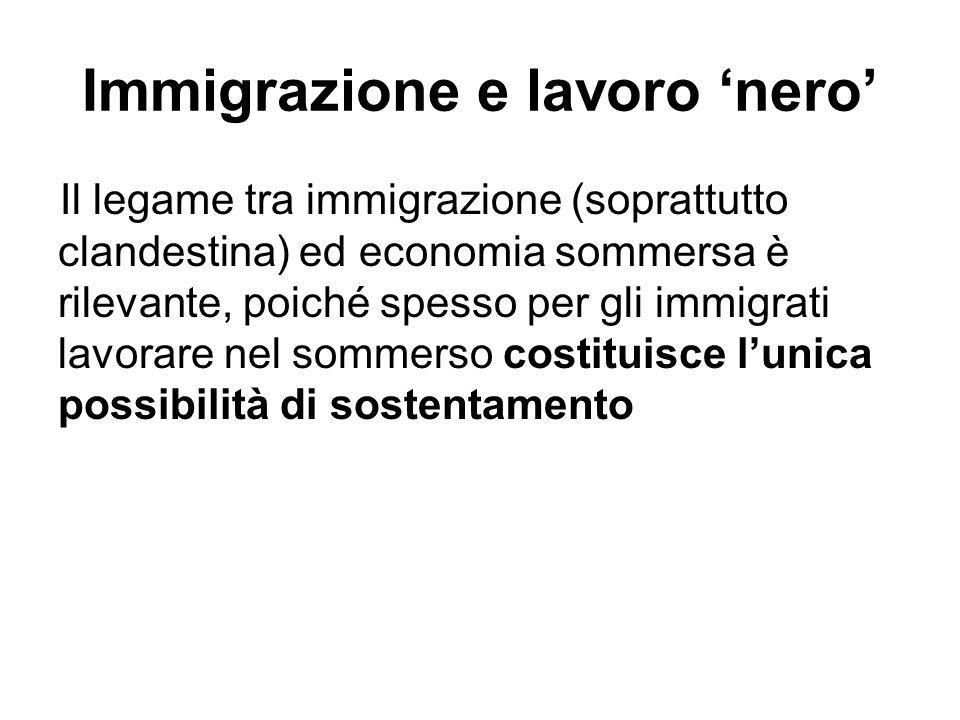 Immigrazione e lavoro 'nero'