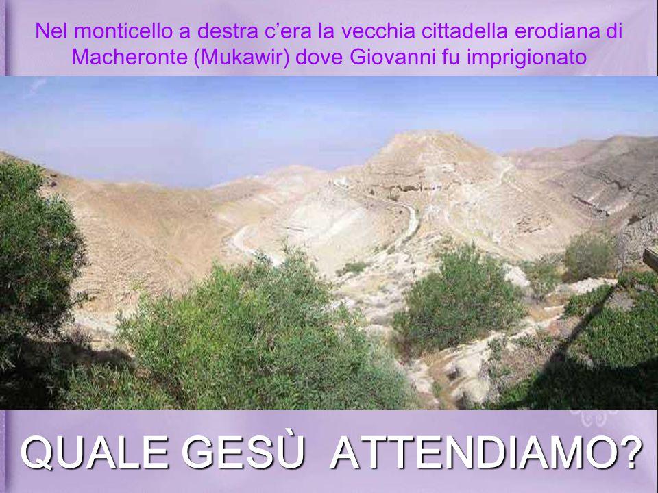 Nel monticello a destra c'era la vecchia cittadella erodiana di Macheronte (Mukawir) dove Giovanni fu imprigionato
