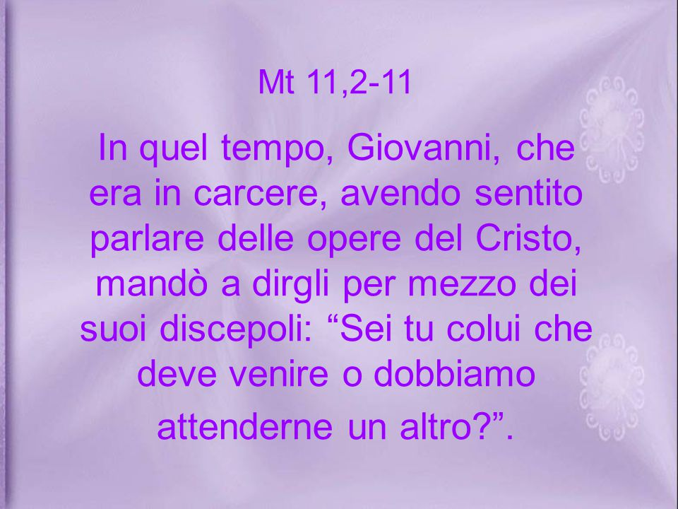 Mt 11,2-11