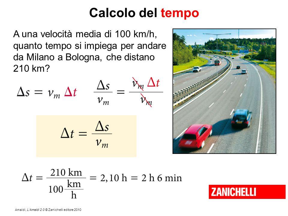 Calcolo del tempo A una velocità media di 100 km/h,