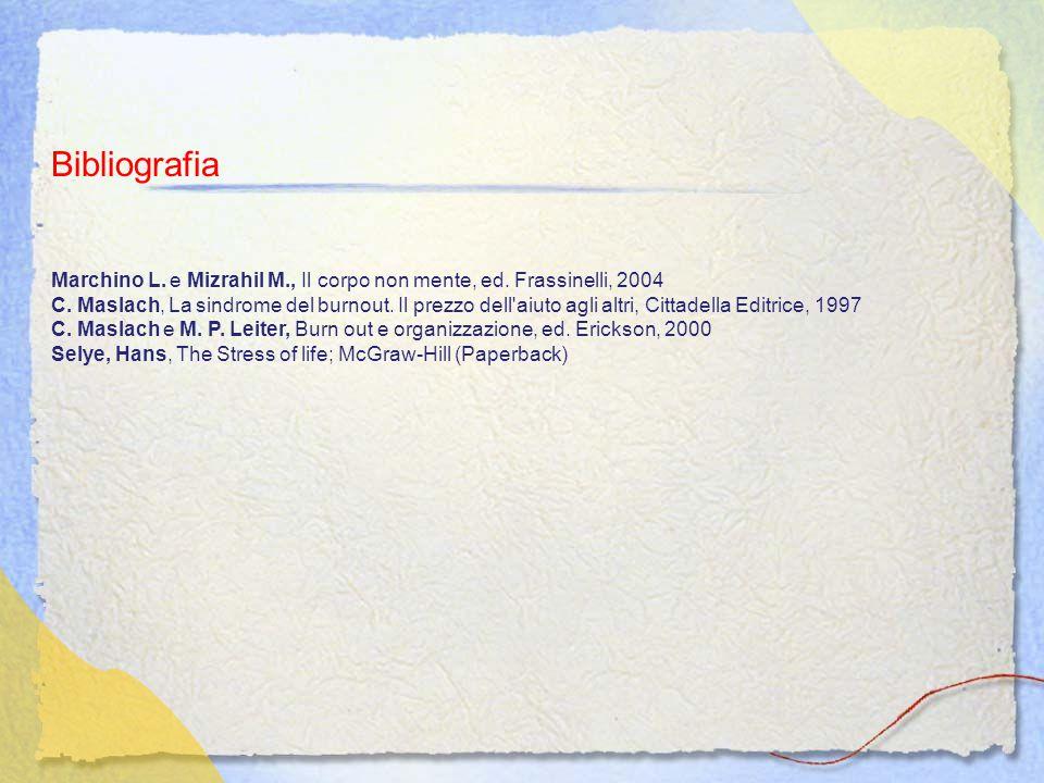 Bibliografia Marchino L. e Mizrahil M., Il corpo non mente, ed. Frassinelli, 2004.