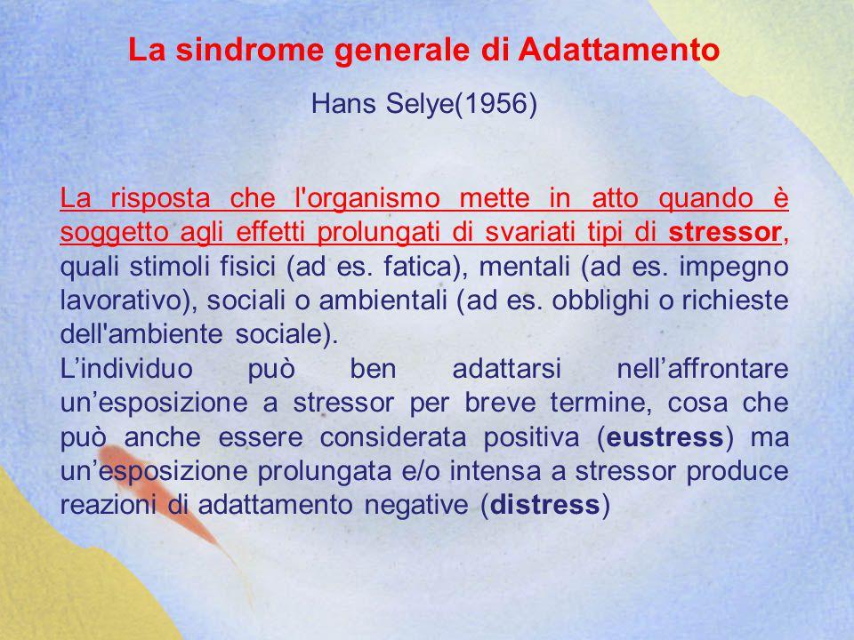 La sindrome generale di Adattamento