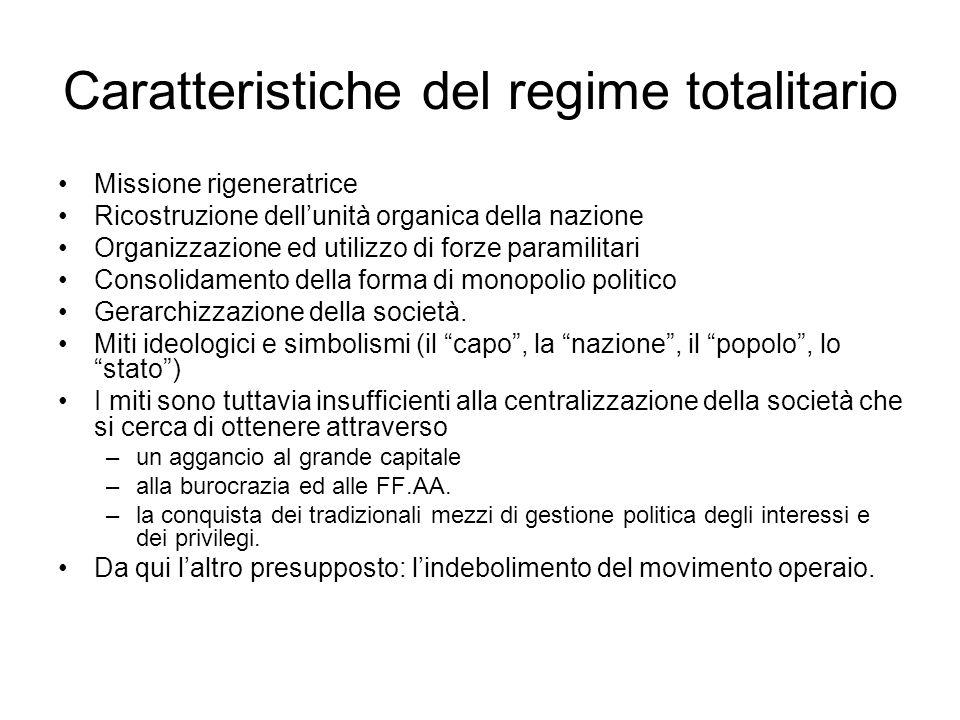 Caratteristiche del regime totalitario