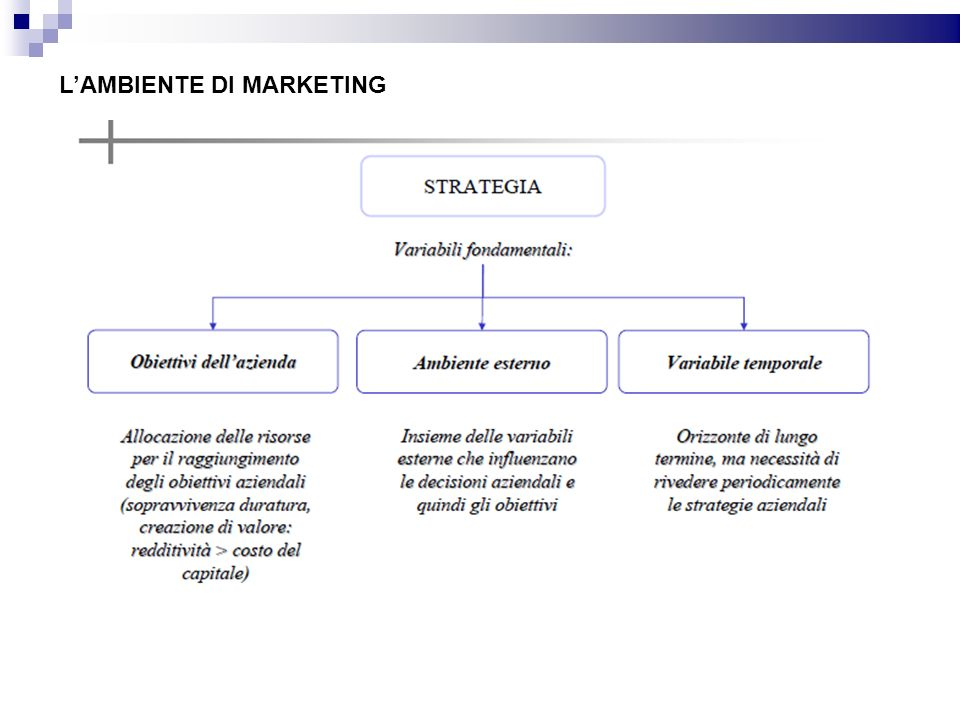 L'AMBIENTE DI MARKETING