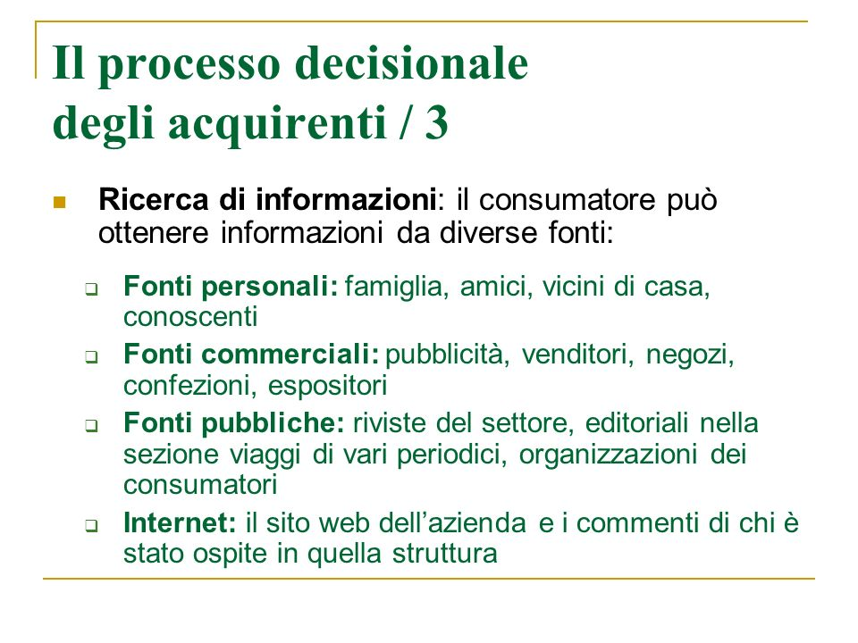 Il processo decisionale degli acquirenti / 3