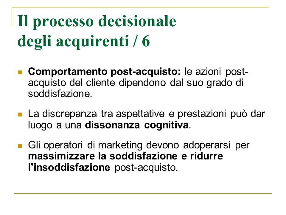 Il processo decisionale degli acquirenti / 6